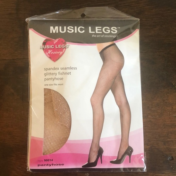 New Music Legs 90014 Glittery Fishnet Pantyhose